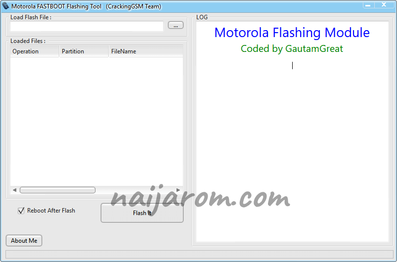 Motorola Flashing Tool